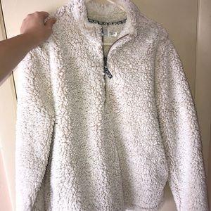 White teddy coat